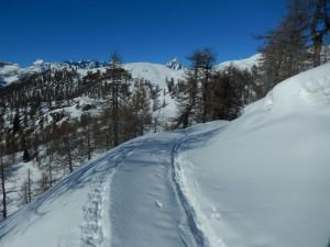 Il Monte Cervino salendo all'Alpe Champlong di La Magdeleine - Foto di Gian Mario Navillod.