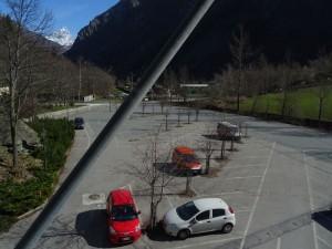 Parcheggio della funivia Buisson Chamois in bassa stagione - Foto di Gian Mario Navillod.