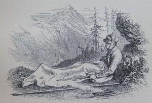 Edward Whymper nel 1861. Il bivacco.
