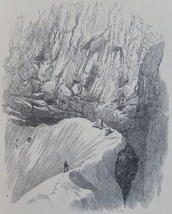 La prima tenda di Edward Whymper al Colle del Leone.