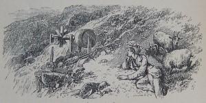 Edward Whymper convalescente e la zangola per il burro.