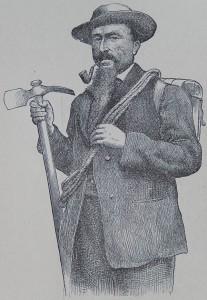 La guida Michel Croz in un disegno di Edward Whymper.
