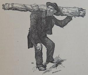 La guida Luc Meynet in un disegno di Edward Whymper