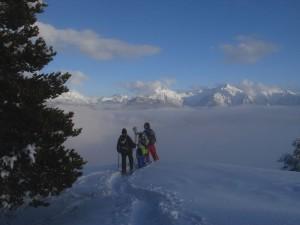 Panorama invernale da Saint Evence – Foto di Gian Mario Navillod.