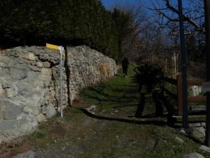 Via Francigena a Povil di Quart – Foto di Gian Mario Navillod.