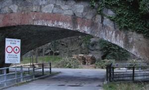 Segnali di divieto di transito anche pedonale alla pista di servizio alternativa alla Via Francigena - Foto di Gian Mario Navillod.