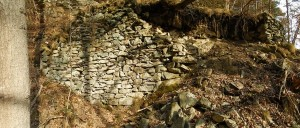 Primo muri del Ru del Pan Perdu di Châtillon nell'orrido del torrente Promiod – Foto di Gian Mario Navillod.