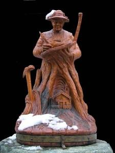 Statua dedicata all'Abbé Amé Gorret a Valtournenche - Foto di Gian Mario Navillod.