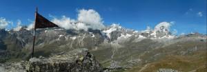 Panorama dalla vetta del Bec Pio Merlo - Foto di Gian Mario Navillod.