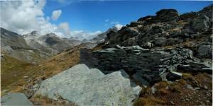 Colle della Motta di Plété Occidentale, sullo sfondo le Cime Bianche  - Foto di Gian Mario Navillod.