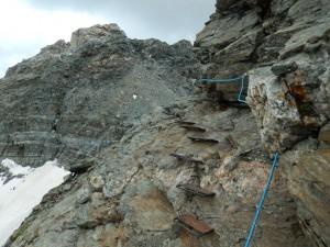Nuovo sentiero attrezzato per il Colle di Valcournera – Foto di Gian Mario Navillod.
