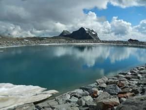 Bacino per l'innevamento artificiale al Colle Nord delle Cime Bianche – Foto di Gian Mario Navillod.