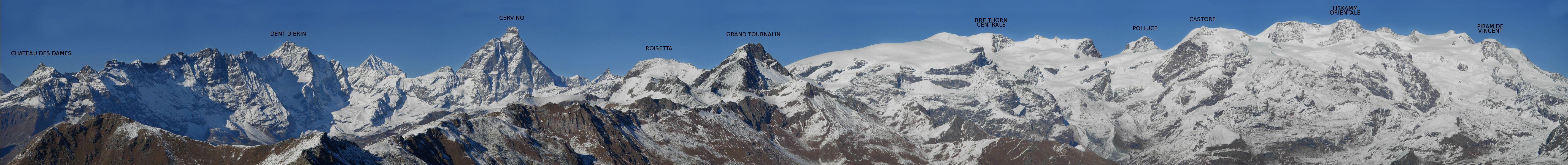 Panorama dalla cima del Monte Zerbion – Foto di Gian Mario Navillod.