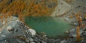 Lago Blu di Verra in autunno - Foto di Gian Mario Navillod.