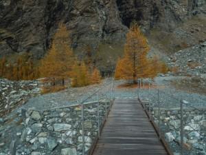 Ponte pedonale sul Torrente di Verra/Véraz - Foto di Gian Mario Navillod.