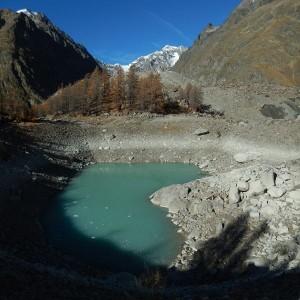 Lago del Miage, sub-bacino 1 - novembre 2014 - Foto di Gian Mario Navillod.