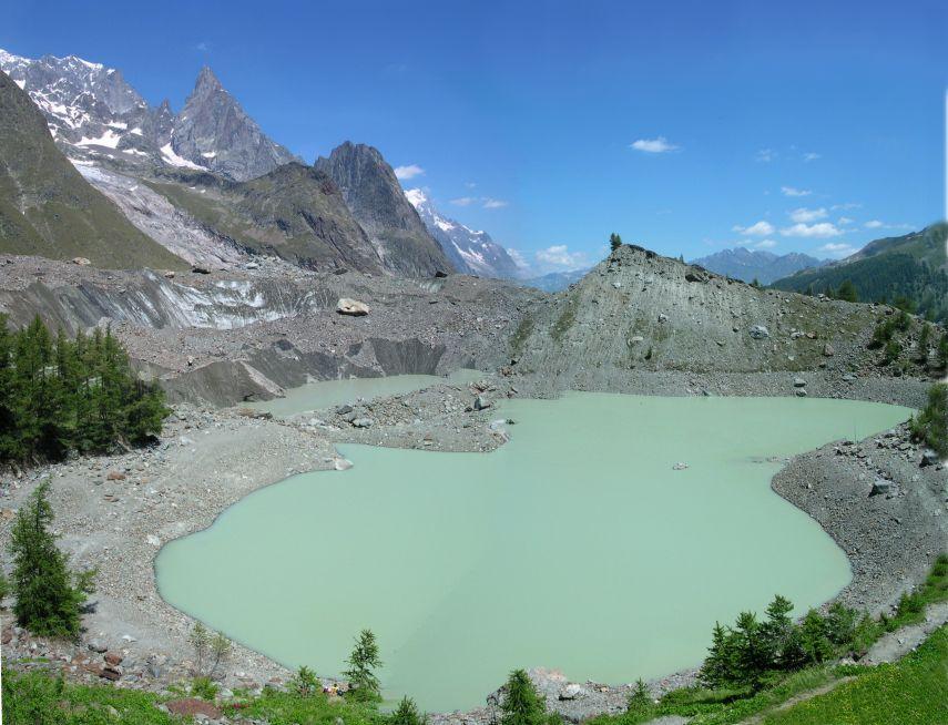 Il lago del Miage nell'estate 2006 - Foto di Gian Mario Navillod.