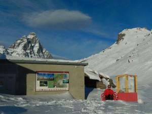 Ecomuseo del Vertice dalla pista per le ciaspole del Tour di Mande di Valtournenche - Foto di Gian Mario Navillod.