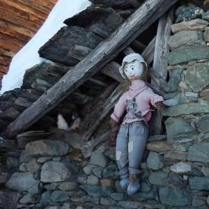 Lo spaventapasseri di Crepin di Chamois - Foto di Gian Mario Navillod.