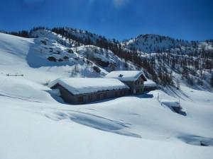 Alpe Cort di Chamois a fine febbraio - Foto di Gian Mario Navillod.