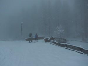 Nevicata primaverile a Chamois - Foto di Gian Mario Navillod.