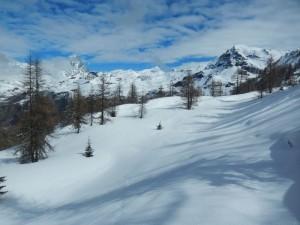Belvedere sul Cervino sotto il Col Cheneil di Chamois - Foto di Gian Mario Navillod.
