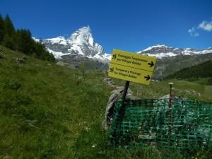 Deviazione del sentiero per il Rifugio Bobba - Foto di Gian Mario Navillod.