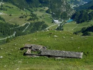Alpe Bayettes dal sentiero per il Rifugio Bobba - Foto di Gian Mario Navillod.