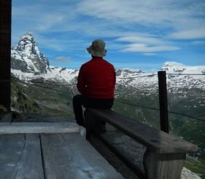 Terrazzo del Rifugio (bivacco) Bobba detto anche Rifugio des Jumeaux a Valtournenche- Foto di Gian Mario Navillod.