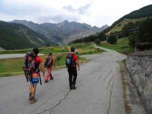 Sopralluogo sull'Altavia 1 della Valle d'Aosta - Foto di Gian Mario Navillod.
