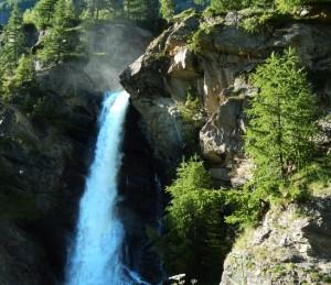 Le cascate di Lillaz, salto superiore - Foto di Gian Mario Navillod.