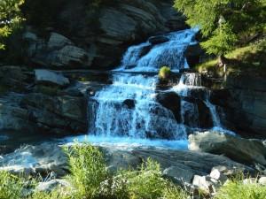 Le cascate di Lillaz, salto inferiore - Foto di Gian Mario Navillod.
