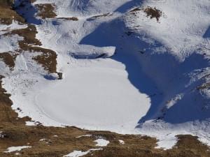 Lago Falinère il 27 dicembre 2015 - Foto di Gian Mario Navillod.