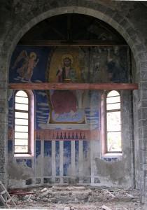 Abside della cappella del complesso minerario di Colonna - Foto 2004 di Gian Mario Navillod.