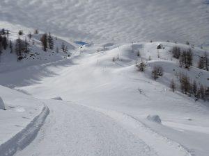 Il Col Champlong di Chamois sotto la neve - Foto di Gian Mario Navillod.