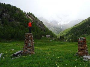 Pilastro del ru crollato dell'Alpe Closeau nel 2016 - Foto di Gian Mario Navillod.