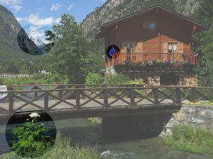 Il ponte del Filey e tre elementi potenzialmente pericolosi - Foto di Gian Mario Navillod.