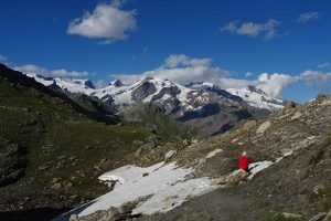 Il massiccio del Monte Rosa dal Col di Nana (Chamois) - Foto di Gian Mario Navillod.