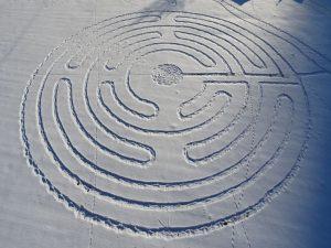 Il labirinto di Celestino ad Antey-Saint-André - Foto di Gian Mario Navillod.