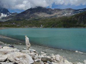 Ricerca dell'equilibrio al lago del Goillet - Foto di Gian Mario Navillod.