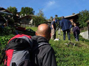 Filippo Camerlenghi, vicepresidente AIGAE, durante le riprese televisive a Chamois - 11 settembre 2017 - Foto di Gian Mario Navillod.