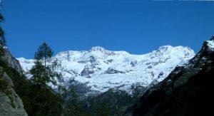 Il Monte Rosa da Gressoney - Foto di Gian Mario Navillod.