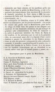 I primo 13 sottoscrittori per la costruzione del rifugio sul Cervino - Collezione Gian Mario Navillod.