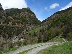 Sterrata di accesso al Ru Crépellaz di Nus - Foto di Gian Mario Navillod.