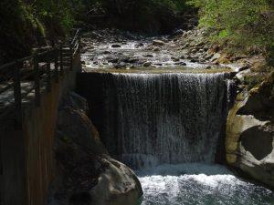 Cascata della Dora di Rhêmes alla presa del Gran Ru di Introd - Foto di Gian Mario Navillod.