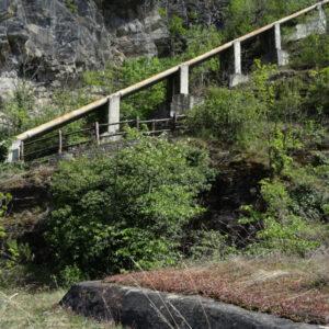 Sifone del Ru de Saint-Pierre et Villeneuve e tetto del bunker sud - foto di Gian Mario Navillod.