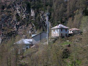 Ex centrale di Pompaggio di Promoron - Foto di Gian Mario Navillod.