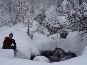 La cascata di Cort a Chamois - Foto di Gian Mario Navillod.