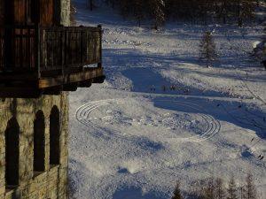 Il labirinto di Natale 2020 di Chamois dall'Hôtel Maison Cly**** - Foto di Gian Mario Navillod.