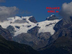 Il Polluce 4091 m di altezza visto dal Ru Courtaud/Courtod - Foto di Gian Mario Navillod.